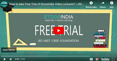 Take Free trial of IIT JEE Video Lectures by Etoosindia