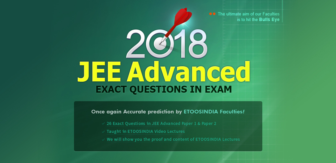 2018 JEE Advanced EXACT QUESTIONS IN EXAM