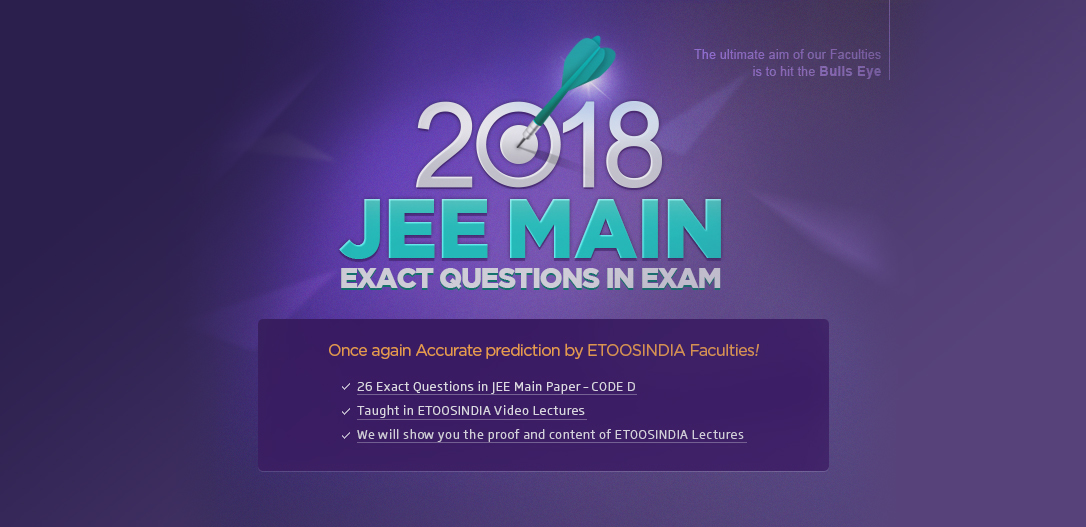 2018 JEE MAIN EXAM QUESTIONS IN EXAM