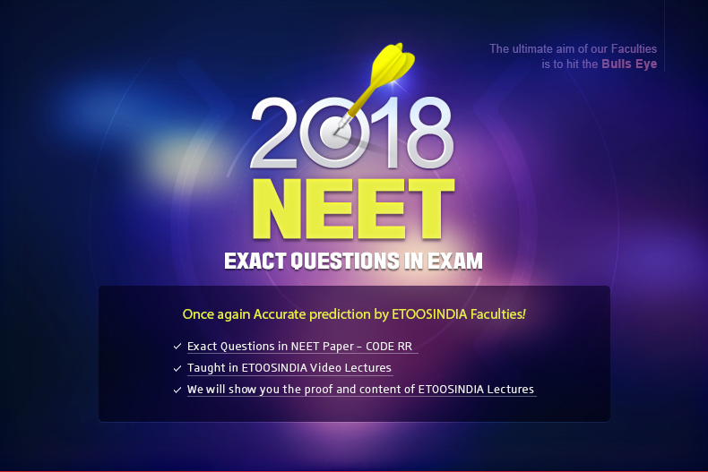 2018 NEET MAIN EXAM QUESTIONS IN EXAM