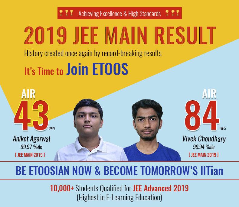 JEE 2019 ETOOSINDIA Result