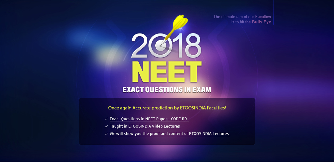 2018 NEET MAIN EXAM QUESTIONS IN EXAM