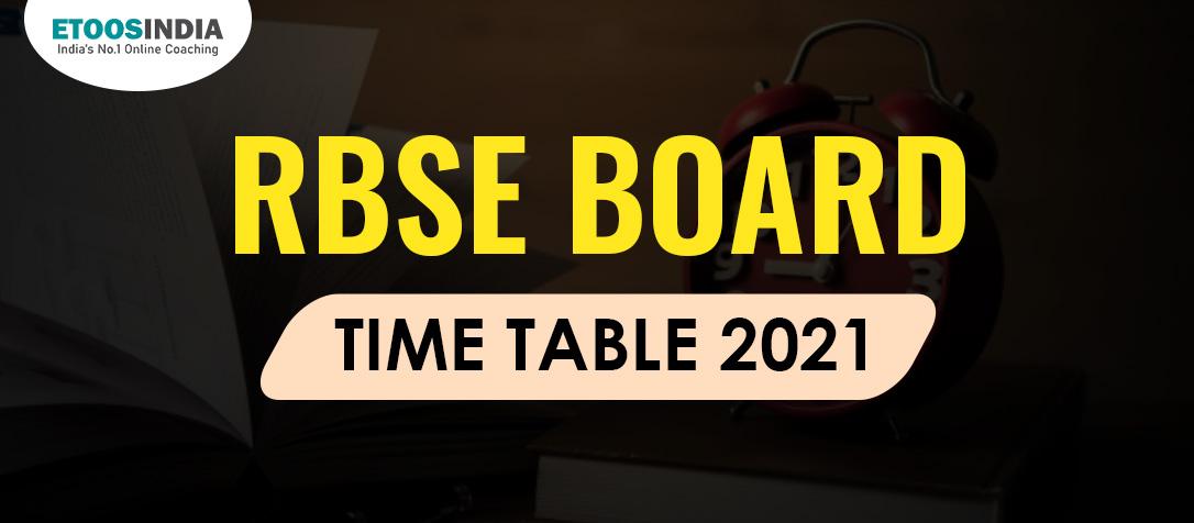 RBSE Exam ime table