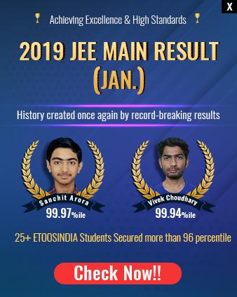 EtoosIndia JEE Main 2019 Result
